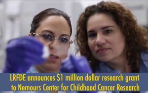 Leukemia Research Foundation of Delaware gives another $1 million grant to Nemours